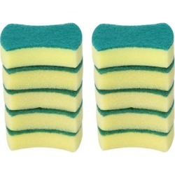 Scouring Pad Tool Non-Scratch Scouring Sponge 10pcs High Density Cleaning for Household Cleaners