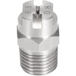 Flat Fan Spray Tip - 1/4BSPT Male Thread 304 Stainless Steel Nozzle - 65 Degree 1.8mm Orifice Diameter