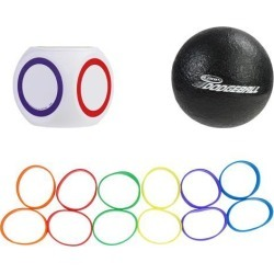 6' Black and White Coop Scatter Dodgeball Outdoor Backyard Recreational Game Set