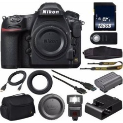 Nikon D850 DSLR Camera + 128GB SDXC MC + External Flash + HDMI Cable + Universal Wireless Remote Shutter Release + Hand Camera Grip Bundle