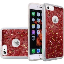 Apple iPhone 6 Plus/ 6s Plus Case, Slim Crystal Back Bumper Case [Drop Protection] [Stardust Fusion] Quicksand Glitter Flexible Border Shock
