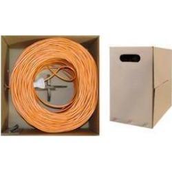 Bulk Cat6 Orange Ethernet Cable, Stranded, UTP (Unshielded Twisted Pair), Pullbox, 1000 foot