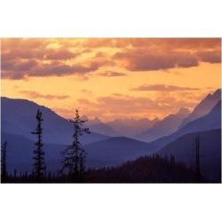Posterazzi PDDCN01JMI0000 Sunset in Banff National Park Alberta Canada Poster Print by Janis Miglavs - 27 x 18 in.