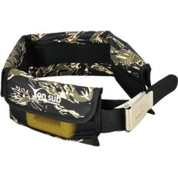 Scuba Diving Heavy Duty Weight Belt Snorkeling Webbing & Pockets Camouflage