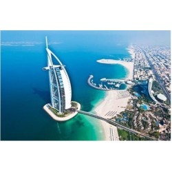 Posterazzi PDDAS44BBA0021 Aerial View of the Burj Al Arab Dubai United Arab Emirates Poster Print by Bill Bachmann - 26 x 17 in. found on Bargain Bro Philippines from Newegg Canada for $53.97