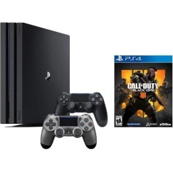 PlayStation 4 Call of Duty Black Ops IIII and 4K HDR PlayStation 4 Pro 1 TB Console with Extra Steel Black Dualshock 4 Wireless Controller