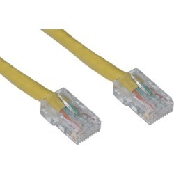 Offex Cat6 Ethernet Patch Cable, Bootless, 10 foot - Yellow