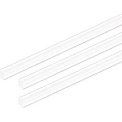5mmx5mmx10inch Acrylic Rod Square Clear Acrylic Plastic Rod Solid PMMA Bar 3pcs