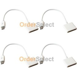 4 Adapter for iPhone 4 to Micro USB Android Phone Alcatel One Touch Dawn Fierce