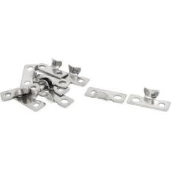 Casement Window Sash Stainless Steel Lock Hooks Latches Strike Plates 10pcs