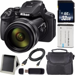 Recertified - Nikon COOLPIX P900 Digital Camera + EN-EL23 Lithium Ion Battery + 32GB SDHC Class 10 Memory Card + Carrying Case + Micro HDMI Cable +