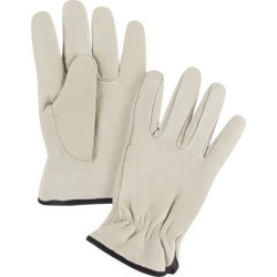 Zenith Safety Products Grain Cowhide Drivers Fleece Lined Gloves, Small, 1 Pair