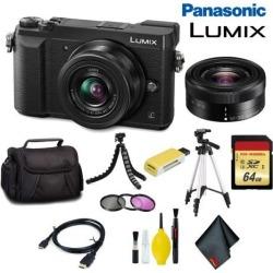 Panasonic Lumix DMC-GX85 Mirrorless Micro Four Thirds Digital Camera with 12-32mm Lens (Black) Pro Bundle