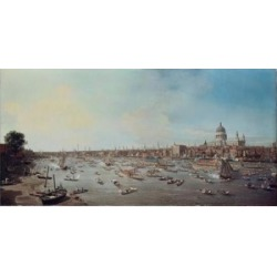 Posterazzi SAL900100925 London & the Thames Giovanni Antonio C. Canaletto 1697-1768 Italian Poster Print - 18 x 24 in. found on Bargain Bro India from Newegg Canada for $52.03