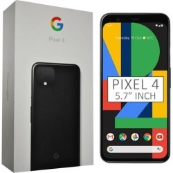 Google Pixel 4 G020M 128GB 5.7 inch Android (GSM Only, No CDMA) Factory Unlocked 4G/LTE Smartphone - Just Black