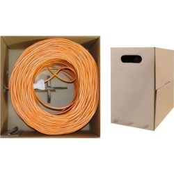 Offex Bulk Cat6 Ethernet Cable, Stranded, UTP (Unshielded Twisted Pair), Pullbox, 1000 foot - Orange