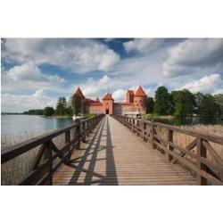 Posterazzi PDDEU46WBI0122 Lithuania Trakai Historical Np Island Castle Poster Print by Walter Bibikow - 35 x 23 in.
