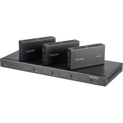 Monoprice Blackbird 4K 4x4 HDBaseT Matrix With 3 Receivers 70m, IR, SPDIF, RCA, TCP/IP, RS232, EDID, HDCP 2.2