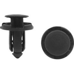 20 Pcs Black Plastic Rivet Bumper Lining Retainer Fastener Clips 8.5mm Hole