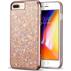 iPhone 8 Plus Case, iPhone 7 Plus Case, ESR Luxury Sparkly Bling Diamond Back Shell Skin with Dual Layer Design [Hard PC Back + Soft TPU Inner]