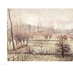 Posterazzi BALXIR37022LARGE Snow Effect at Eragny 1894 Poster Print by Camille Pissarro - 36 x 24 in. - Large