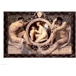 Posterazzi BALXAM46272LARGE Idylle 1884 Poster Print by Gustav Klimt - 36 x 24 in. - Large