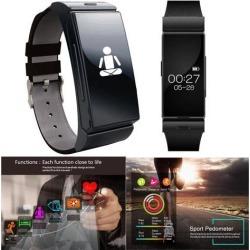 Indigi® Fitness Tracker Smart Watch Bluetooth Headset Bracelet w/ Heart Rate Monitor Sensor >Great Gift<