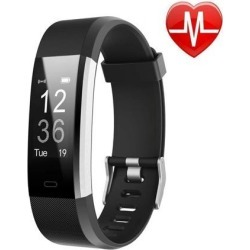 LETSCOM Fitness Tracker HR, Activity Tracker Watch with Heart Rate Monitor, Waterproof Smart Fitness Band with Step Counter, Calorie Counter.