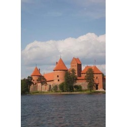 Posterazzi PDDEU46WBI0119 Island Castle by Lake Galve Trakai Lithuania III Poster Print by Walter Bibikow - 23 x 35 in.
