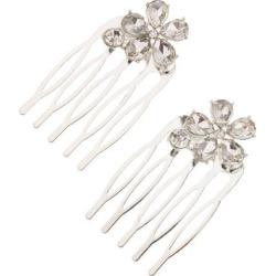 Bridal Hair Comb Rhinestone Flower Hair Combs Wedding Hair Accessory Sliver