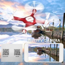 Syma X25W Auto Take Off/Landing Adjustable 720P Camera Wifi FPV Drone Altitude Hold Optical Flow Positioning RC Quadcopter