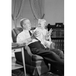 Posterazzi SAL255419107C Grandfather Talking with Grandson in Living Room Poster Print - 18 x 24 in.