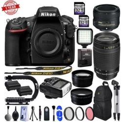 Nikon D810 36.3MP 1080P DSLR Camera w/ Wi-Fi & GPS Ready - 4 Lens - 21 to 300mm - 128GB- 24PC Kit