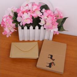 50pcs Kraft Paper Reindeer Antler Cards with Envelopes for Wedding Christmas