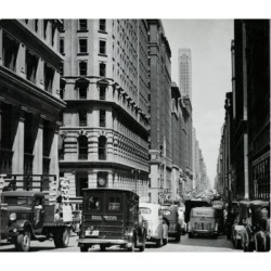 Posterazzi SAL9901129 Traffic in the Street New York City New York USA 1930 Poster Print - 18 x 24 in.