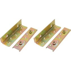 6-inch Iron Zinc Plated Bed Hinge Rail Brackets Connecting Fittings 2 Sets