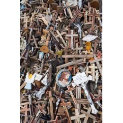 Lithuania, Siauliai, Hill of Crosses, Christianity II Poster Print by Walter Bibikow (23 x 35)