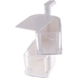 Rotatable Hanging Spice Rack Set Wall-mounted Revolving Spice Rack 2-White