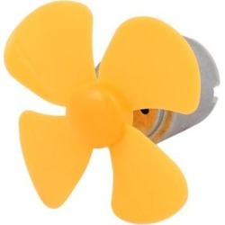 R260S DC 6V 18000RPM Mini Electric Motor w Yellow Propeller for RC Model