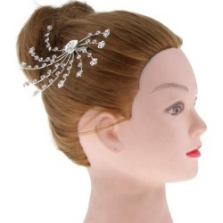 Wedding Bridal Bridesmaid Floral Hair Comb Hairpins Rhinestone Hair Jewelry