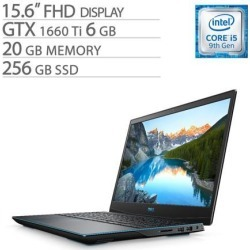 Dell G-Series 15 3590 15.6' FHD Gaming Laptop, Core i5-9300H, GTX 1660 Ti 6GB GDDR6, 20GB RAM, 256GB SSD, Quad-Core up to 4.10 GHz, RJ-45 LAN.
