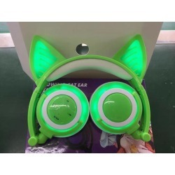 DOBACNER Cat ear glow rechargeable wireless Bluetooth mobile phone computer headset folding gaming headset