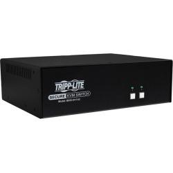 Tripp Lite Secure 2 Port KVM Switch, DVI to DVI, Single Monitor, NIAP PP3.0 Certified, Audio, TAA-Compliant (B002-DV1A2)