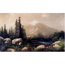 Posterazzi SAL900112353 Mount Shasta California 1880 Thomas Hill 1829-1908 American Poster Print - 18 x 24 in.
