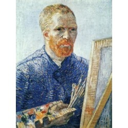 Posterazzi SAL900101467 Self-Portrait in Front of Easel 1888 Vincent Van Gogh 1853-1890 Dutch Oil on Canvas Van Gogh Museum Poster Print - 18 x 24 in.