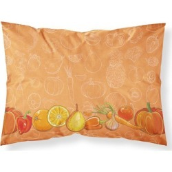 Fruits and Vegetables in Orange Fabric Standard Pillowcase BB5131PILLOWCASE