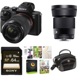 Sony Alpha a7II Mirrorless Camera w/ 28-70mm f/3.5-5.6, 30mm f/1.4 Lens Bundle