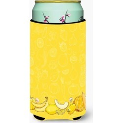 Fruits and Vegetables in Yellow Tall Boy Beverage Insulator Hugger BB5134TBC