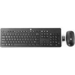 HP Slim - Keyboard and mouse set - wireless - 2.4 GHz Slim Wireless Keyboard and