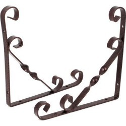 Home Shop Metal L Shaped Support Shelf Bracket Copper Tone 200x200mm 2pcs